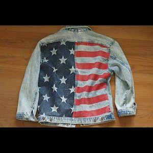 H&M Stars and Stripes Jean Jacket